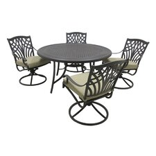 Hanselman 5 Piece Dining Set with Cushions
