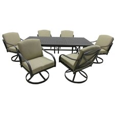 Callingwood 7 Piece Dining Set with Cushions