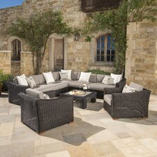 Monroeville Deluxe 8 Piece Sectional Seating Group with Cushion