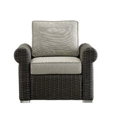 Best Choices Rathdowney Wicker Outdoor Occasional Arm Chair with Cushions