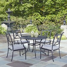 Fresh Lansdale 5 Piece Dining Set with Cushions