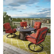 Hanson 5 Piece Dining Set with Firepit