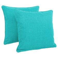 Cadwallader Solid Outdoor Throw Pillow (Set of 2)