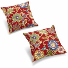 Dewald Outdoor Throw Pillow (Set of 2)