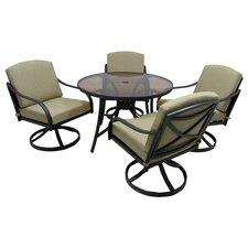 Cool Boundary Bay 5 Piece Dining Set with Cushions