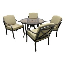Coupon Boundary Bay 5 Piece Dining Set with Cushions