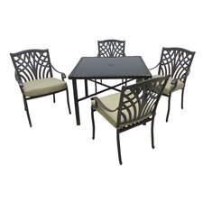 2017 Online Boulevard 5 Piece Dining Set with Cushions