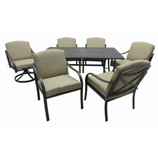 Wonderful Boundary Bay 7 Piece Dining Set with Cushions