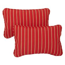 Whitehall Outdoor Sunbrella Lumbar Pillow (Set of 2)