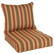 Find Stripped Indoor/ Outdoor Chair Cushion and Pillow Set