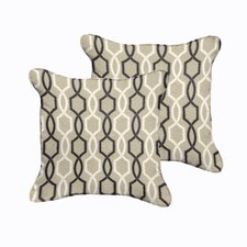 Bank Indoor/Outdoor Throw Pillow (Set of 2)