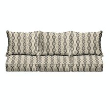 Bank 6 Piece Outdoor Sofa Cushion Set