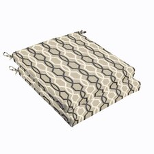 Bank Indoor/ Outdoor Chair Cushions (Set of 2)