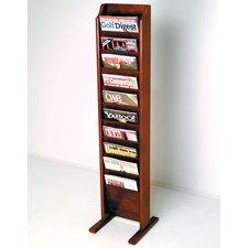 Delia 10 Pocket Free Standing Magazine Rack