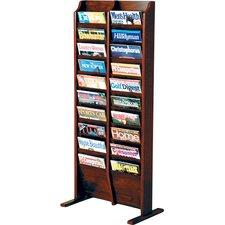 Lorene 20 Pocket Free Standing Magazine Rack