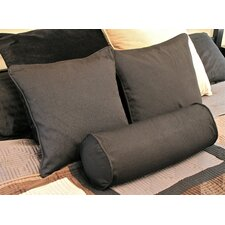 Comparison Barkbridge 3 Piece Solid Package Indoor/Outdoor Throw and Bolster Pillow Set