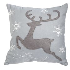 Reindeer Outdoor Throw Pillow