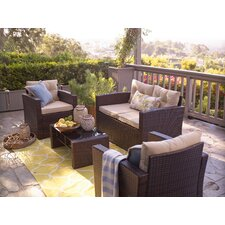 Wonderful Raven 4 Piece Seating Group with Cushion