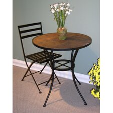 Barker Ridge Round Bistro Table with Slate Top