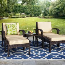 Best #1 Springboro 5 Piece Deep Seating Group with Cushions
