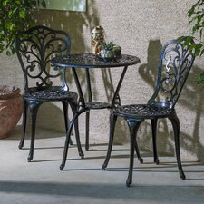 Baileyville 3 Piece Bistro Set