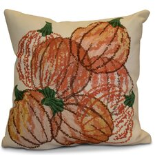 Miller Pumpkin Pile Geometric Outdoor Throw Pillow
