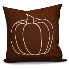Miller Pumpkin Pie Geometric Outdoor Throw Pillow
