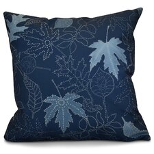 Miller Dotted Leaves Floral Outdoor Throw Pillow