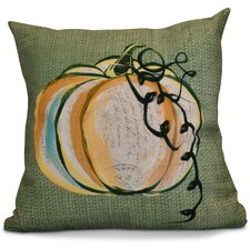 Miller Pumpkin Fest Geometric Outdoor Throw Pillow