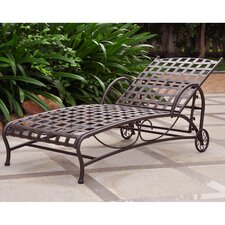Schilling Iron Multi Position Patio Chaise Lounge