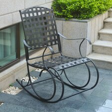 Schilling Nailhead Iron Patio Rocking Chair
