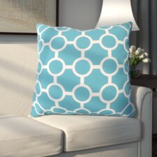 Modern Haysville Smooth Circles Outdoor Throw Pillow