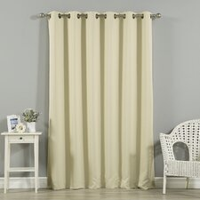 Scarsdale Extra Solid Blackout Thermal Grommet Single Curtain Panel