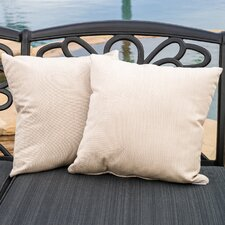 Bonniview Canvas Indoor/Outdoor Sunbrella Throw Pillow (Set of 2)