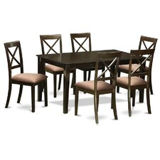 2017 sale smyrna microfiber upholstery 7 piece dining set dining