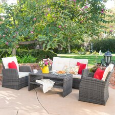 Murphy 4 Piece Deep Seating Group with Cushion