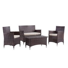 Morrisania 4 Piece Seating Group with Cushion