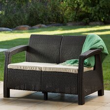 Great price Colona All Weather Outdoor Loveseat with Cushion