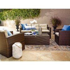 Sanor 4 Piece Deep Seating Group with Cushion