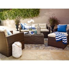 Sanor 5 Piece Deep Seating Group with Cushion