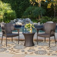 Nadler 3 Piece Outdoor Chair Chat Set