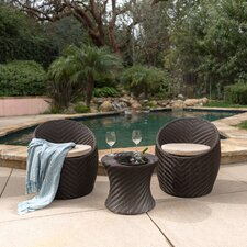 Malbrough 3 Piece Outdoor Seating Group with Cushion