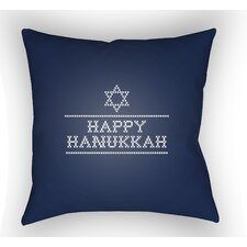 Massengale Happy Hannukah Indoor/Outdoor Throw Pillow