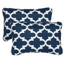 Haight Corded Indoor/Outdoor Lumbar Pillow (Set of 2)