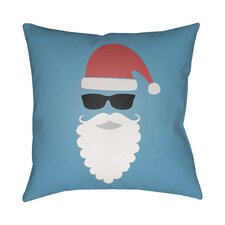 Cool Santa Indoor/Outdoor Throw Pillow