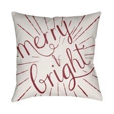 Merry and Bright Indoor/Outdoor Throw Pillow