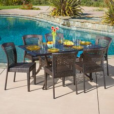 Bautista 7 Piece Outdoor Dining Set