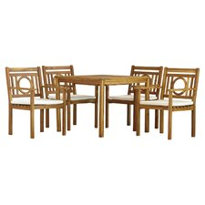 Graves 5 Piece Dining Set with Cushions