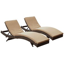 Ludwick Chaise Lounge with Cushion (Set of 2)