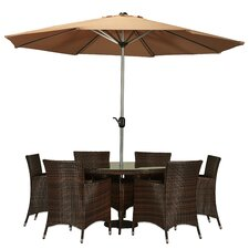 Best  Eubank 8 Piece Dining Set with Cushion